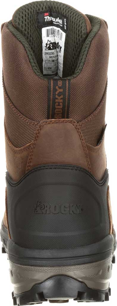 Men's Rocky Grizzly WP 200G Insulated Outdoor Boot RKS0365, Dark Brown Full Grain Leather/Nylon, large, image 5