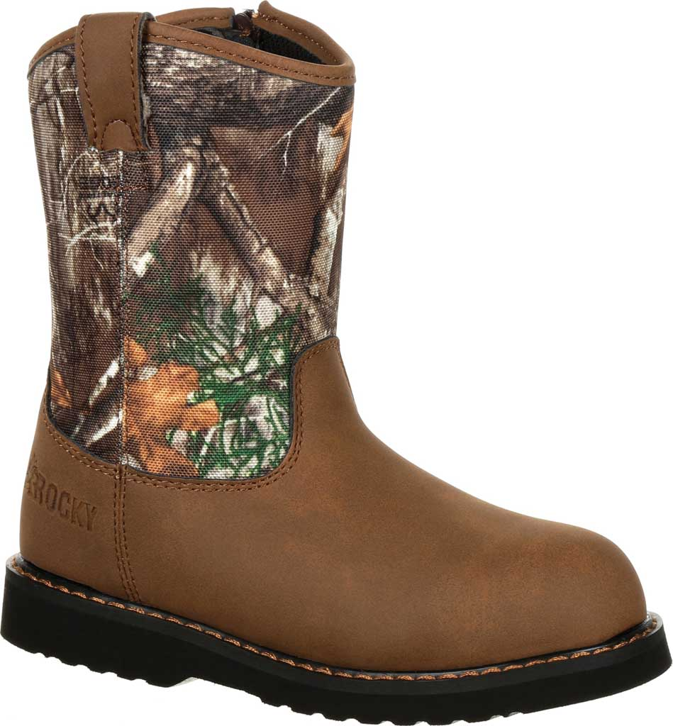 Children's Rocky Lil Ropers Outdoor Boot RKS0358Y, Camouflage Nylon, large, image 1