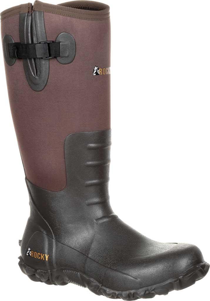 Men's Rocky Core Rubber Waterproof Outdoor Boot RKS0352, Brown Rubber/Neoprene, large, image 1