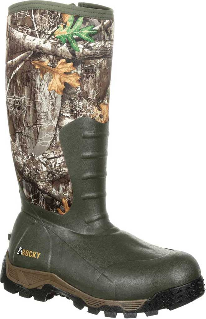 Men's Rocky Sport Pro 1200G Insulated WP Outdoor Boot RKS0382, Realtree Edge Rubber/Neoprene, large, image 1