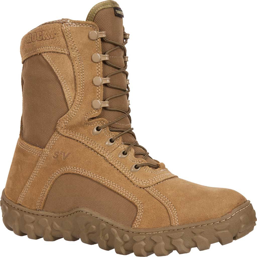 Men's Rocky S2V GTX WP 400G Insulated Military Boot FQ00104-1, Coyote Brown Leather, large, image 1