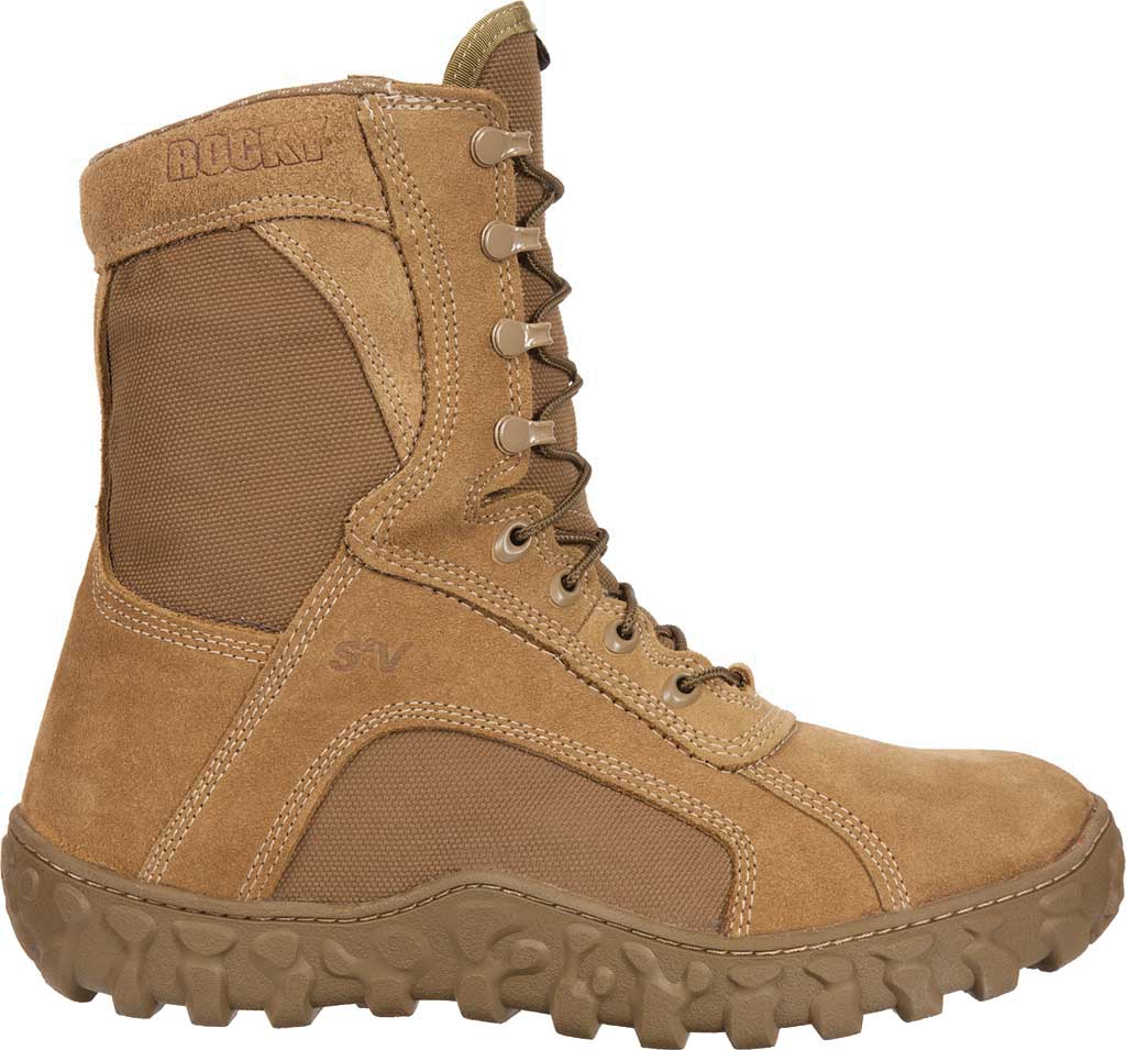 Men's Rocky S2V GTX WP 400G Insulated Military Boot FQ00104-1, Coyote Brown Leather, large, image 2