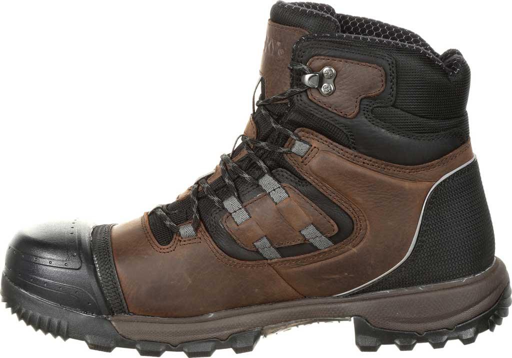Men's Rocky XO-Toe Composite Waterproof Work Boot RKK0253, Brown Full Grain Leather/Synthetic, large, image 2
