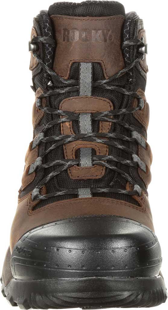 Men's Rocky XO-Toe Composite Waterproof Work Boot RKK0253, Brown Full Grain Leather/Synthetic, large, image 3