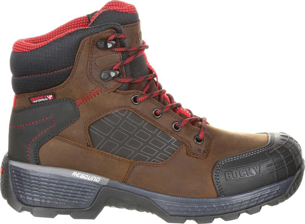 "Men's Rocky Treadflex Composite Toe WP 6"" Work Boot RKK0238"", Dark Brown Full Grain Leather/Synthetic, large, image 2"
