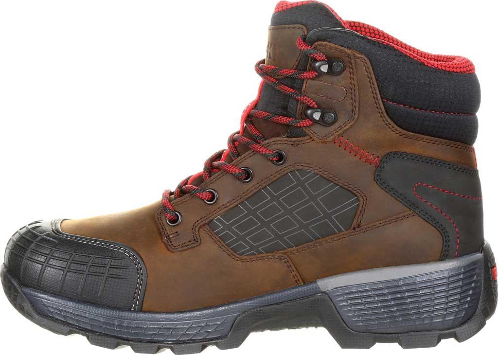 "Men's Rocky Treadflex Composite Toe WP 6"" Work Boot RKK0238"", Dark Brown Full Grain Leather/Synthetic, large, image 3"