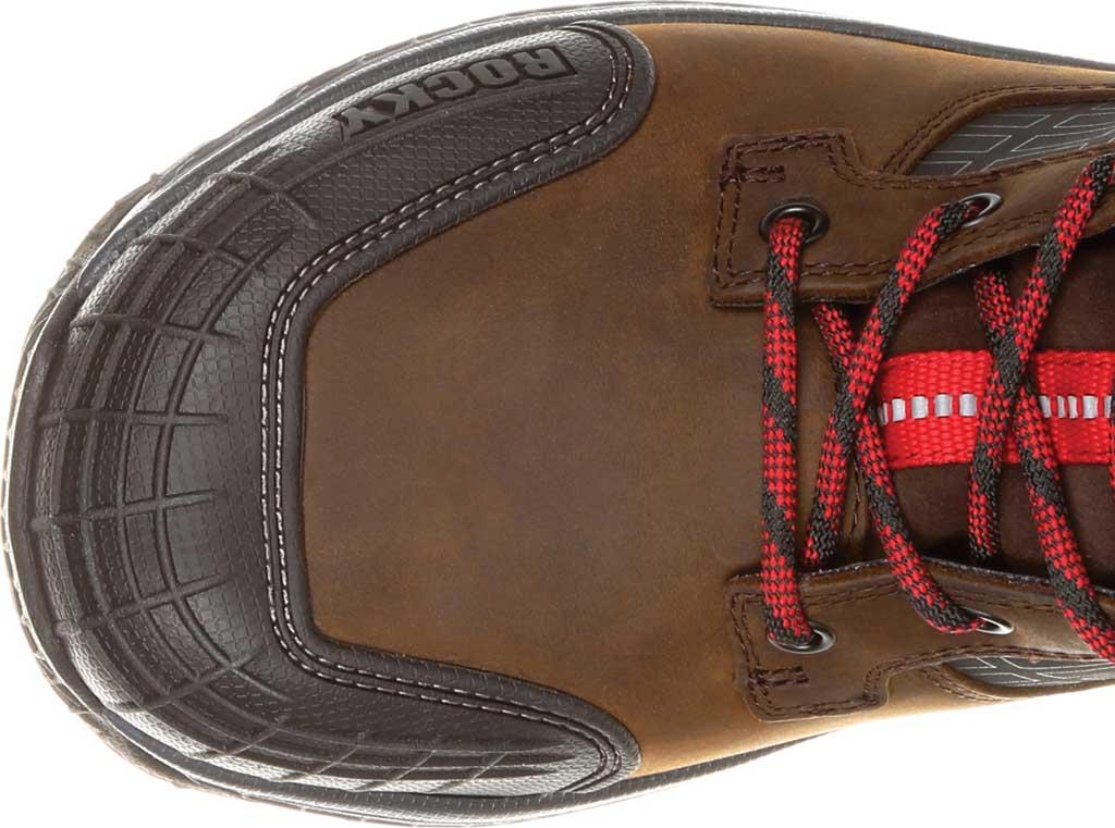 "Men's Rocky Treadflex Composite Toe WP 6"" Work Boot RKK0238"", Dark Brown Full Grain Leather/Synthetic, large, image 6"