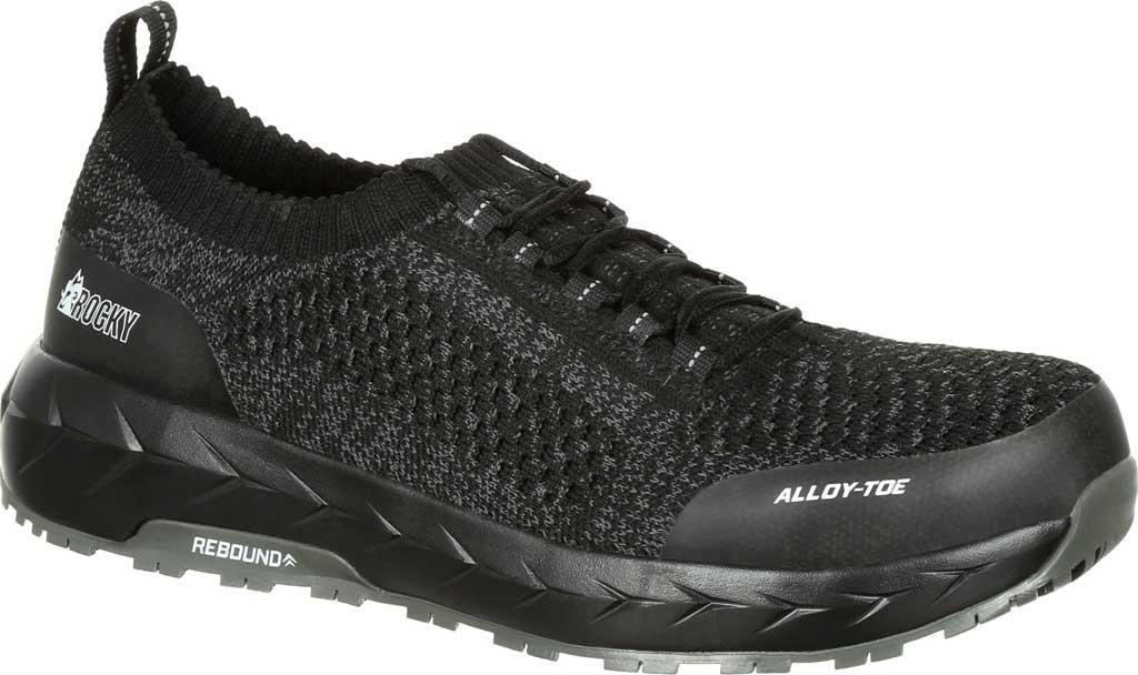 Men's Rocky LX Alloy Toe Athletic Work Shoe RKK0248, Black/Grey Mesh/TPU, large, image 1