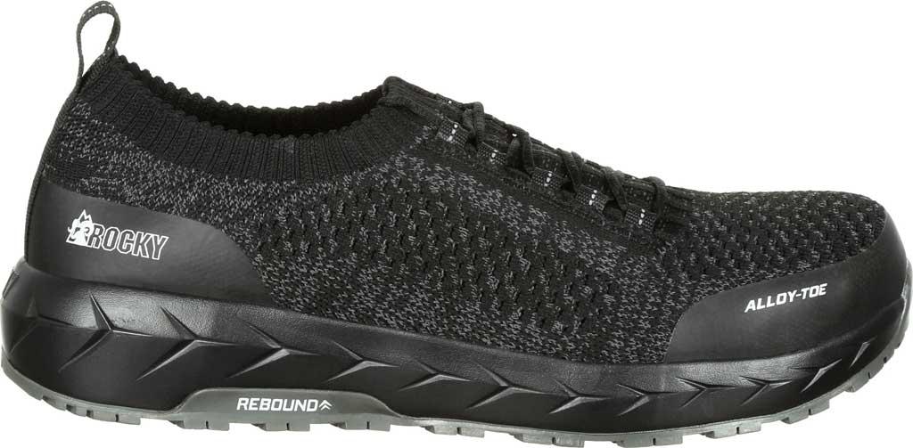 Men's Rocky LX Alloy Toe Athletic Work Shoe RKK0248, Black/Grey Mesh/TPU, large, image 2