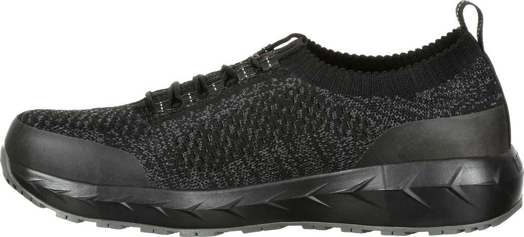 Men's Rocky LX Alloy Toe Athletic Work Shoe RKK0248, Black/Grey Mesh/TPU, large, image 3