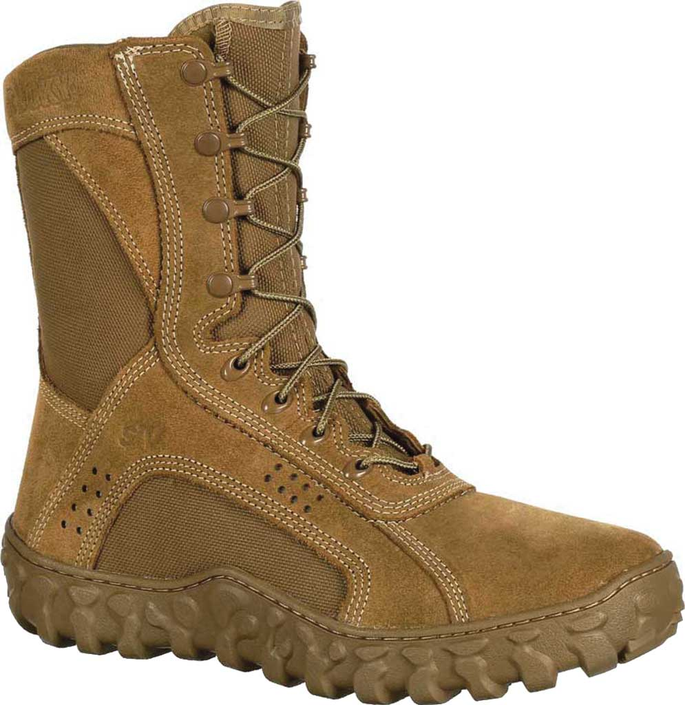 Men's Rocky S2V Tactical Military Boot RKC050, Coyote Brown Leather/Synthetic, large, image 1
