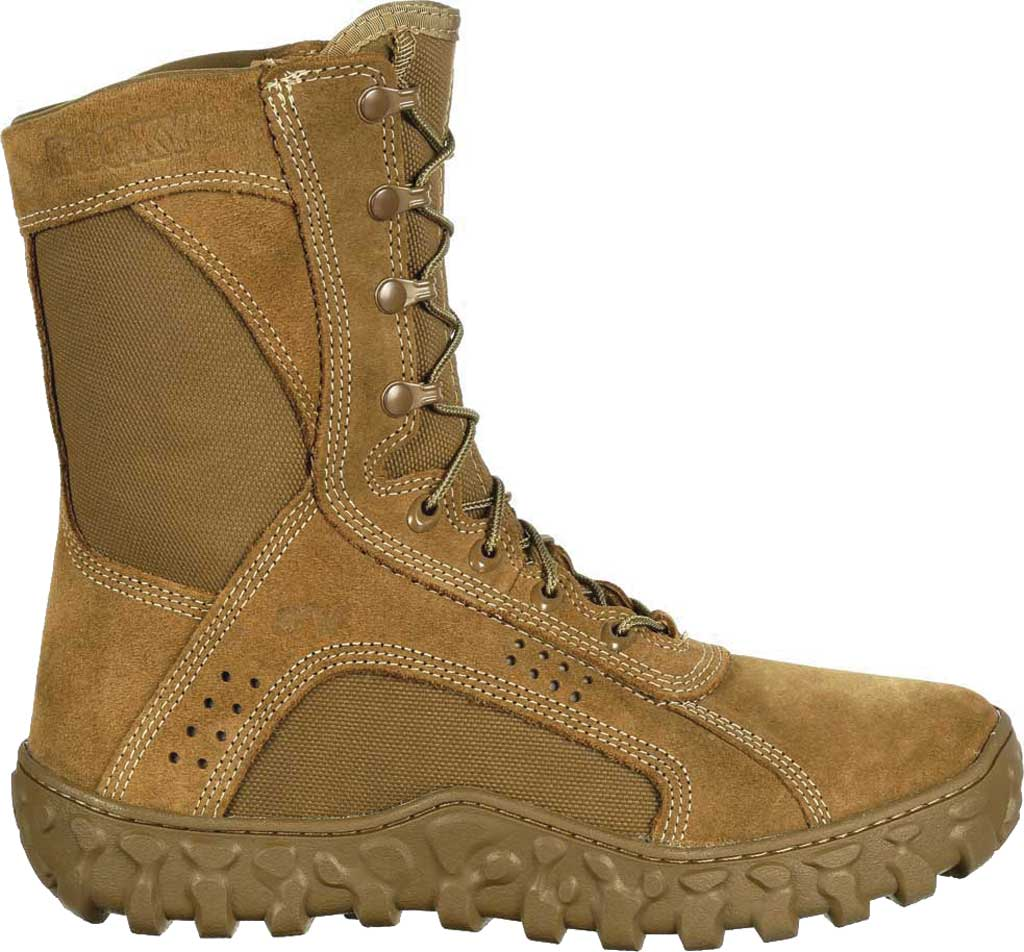 Men's Rocky S2V Tactical Military Boot RKC050, Coyote Brown Leather/Synthetic, large, image 2