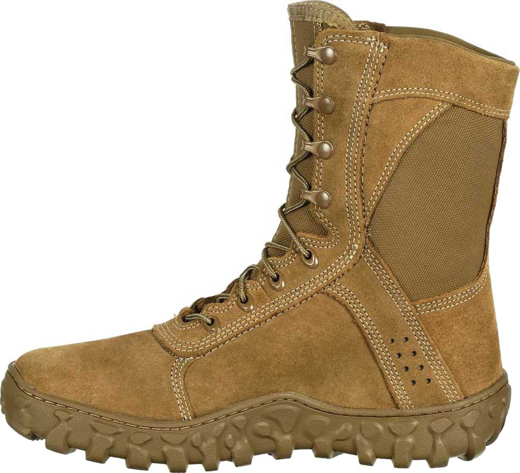 Men's Rocky S2V Tactical Military Boot RKC050, Coyote Brown Leather/Synthetic, large, image 3