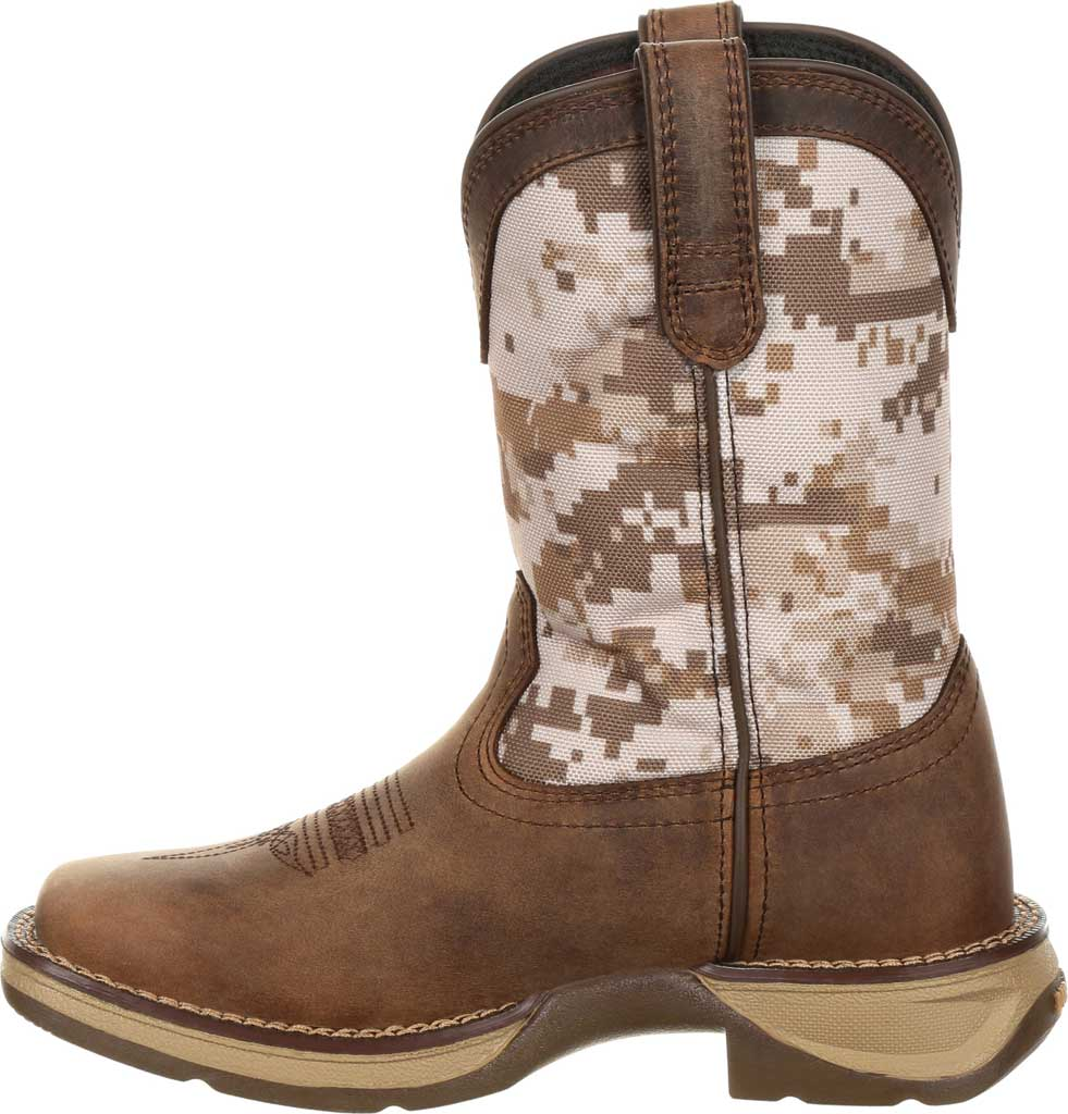 Children's Durango Boot DBT0208Y Lil' Rebel Western Cowboy Boot - Big Kid, Dusty Brown/Desert Camo Full Grain Leather/Nylon, large, image 3