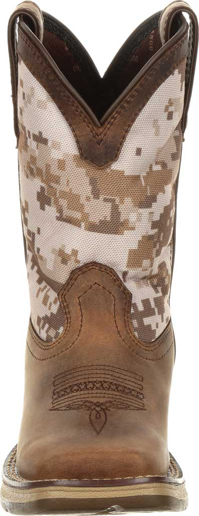 Children's Durango Boot DBT0208Y Lil' Rebel Western Cowboy Boot - Big Kid, Dusty Brown/Desert Camo Full Grain Leather/Nylon, large, image 4