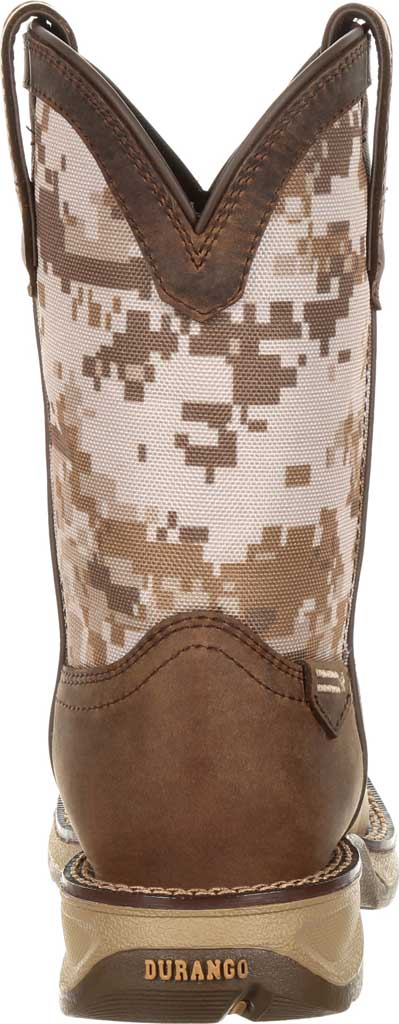 Children's Durango Boot DBT0208Y Lil' Rebel Western Cowboy Boot - Big Kid, Dusty Brown/Desert Camo Full Grain Leather/Nylon, large, image 5