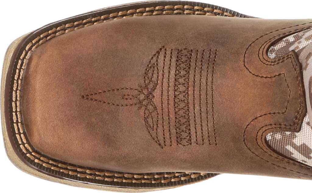 Children's Durango Boot DBT0208Y Lil' Rebel Western Cowboy Boot - Big Kid, Dusty Brown/Desert Camo Full Grain Leather/Nylon, large, image 6