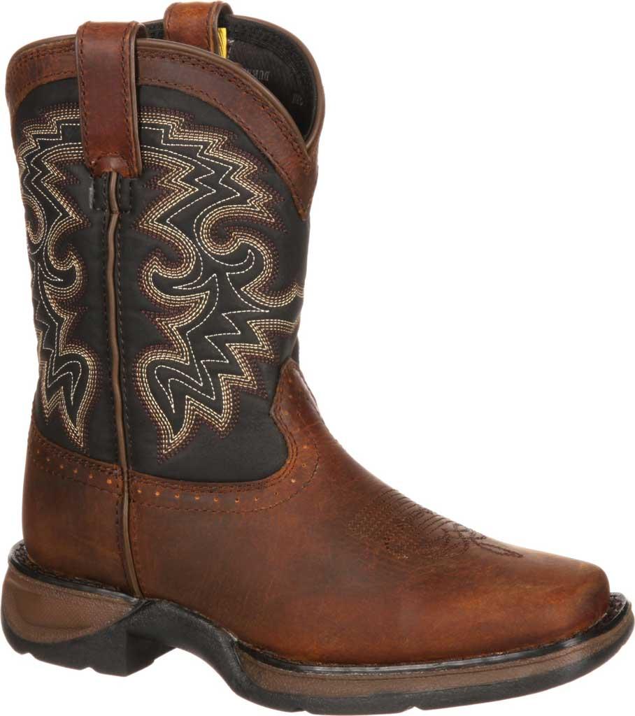 Children's Durango Boot DWBT050 Lil' Durango Cowboy Boot - Big Kid, Tan Black Full Grain Leather, large, image 2