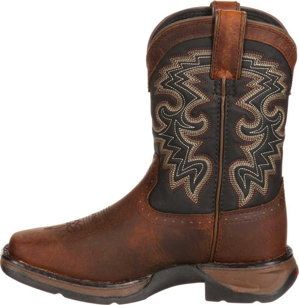 Children's Durango Boot DWBT050 Lil' Durango Cowboy Boot - Big Kid, Tan Black Full Grain Leather, large, image 3