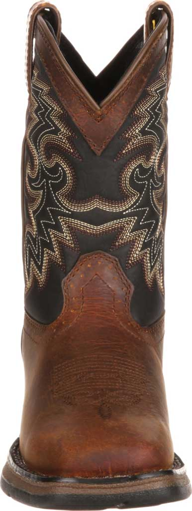 Children's Durango Boot DWBT050 Lil' Durango Cowboy Boot - Big Kid, Tan Black Full Grain Leather, large, image 4