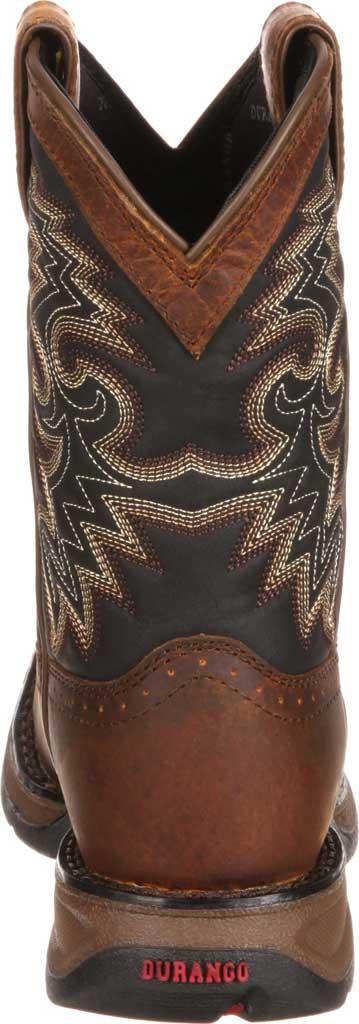 Children's Durango Boot DWBT050 Lil' Durango Cowboy Boot - Big Kid, Tan Black Full Grain Leather, large, image 5