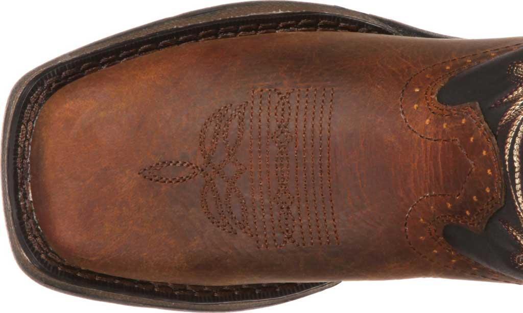 Children's Durango Boot DWBT050 Lil' Durango Cowboy Boot - Big Kid, Tan Black Full Grain Leather, large, image 6