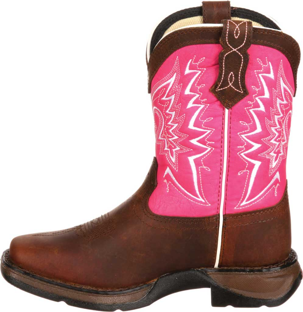 Children's Durango Boot DWBT094 Lil' Durango Let Love Fly Boot - Big Kid, Brown/Pink Full Grain Leather, large, image 3