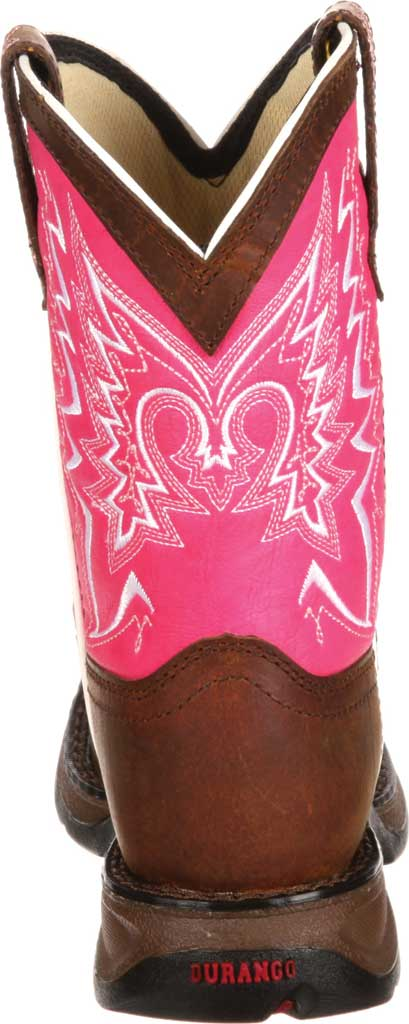 Children's Durango Boot DWBT094 Lil' Durango Let Love Fly Boot - Big Kid, Brown/Pink Full Grain Leather, large, image 5