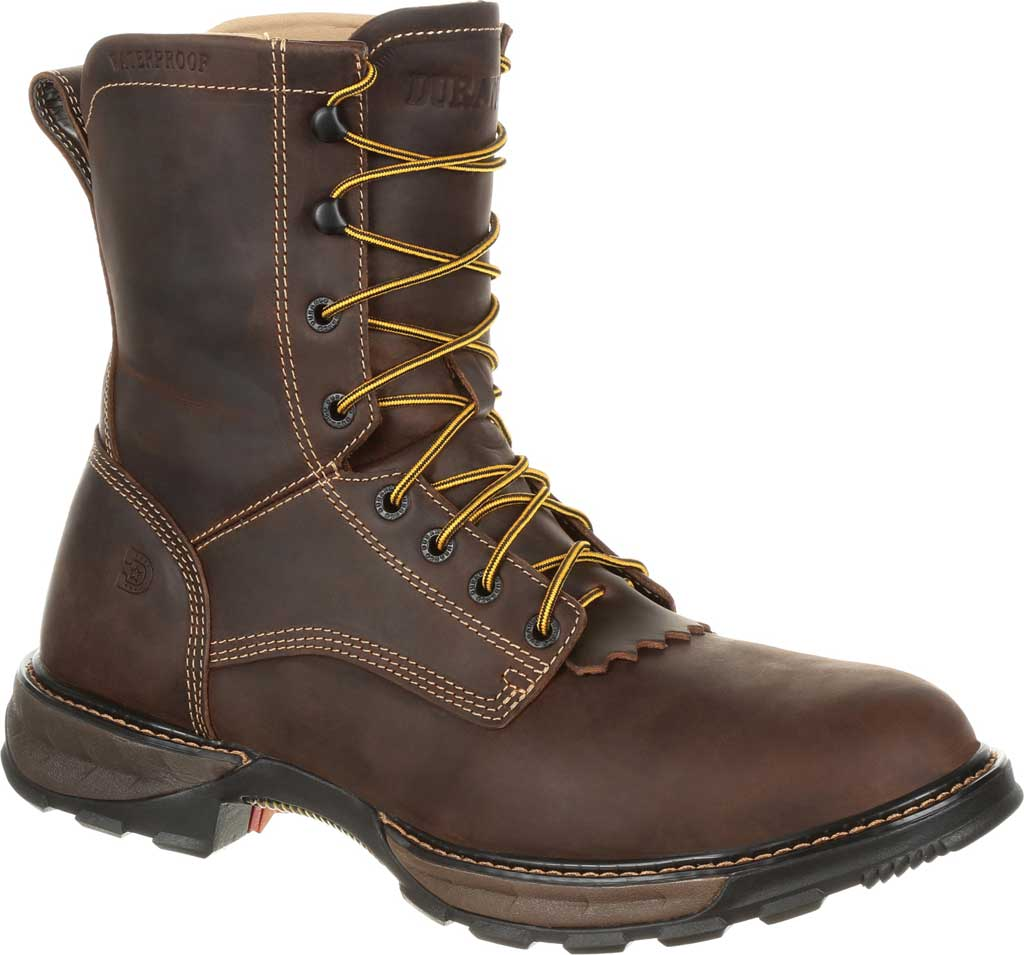 Men's Durango Boot DDB0173 Maverick XP Steel Toe WP Lacer Work Boot, Oiled Brown Full Grain Leather, large, image 1