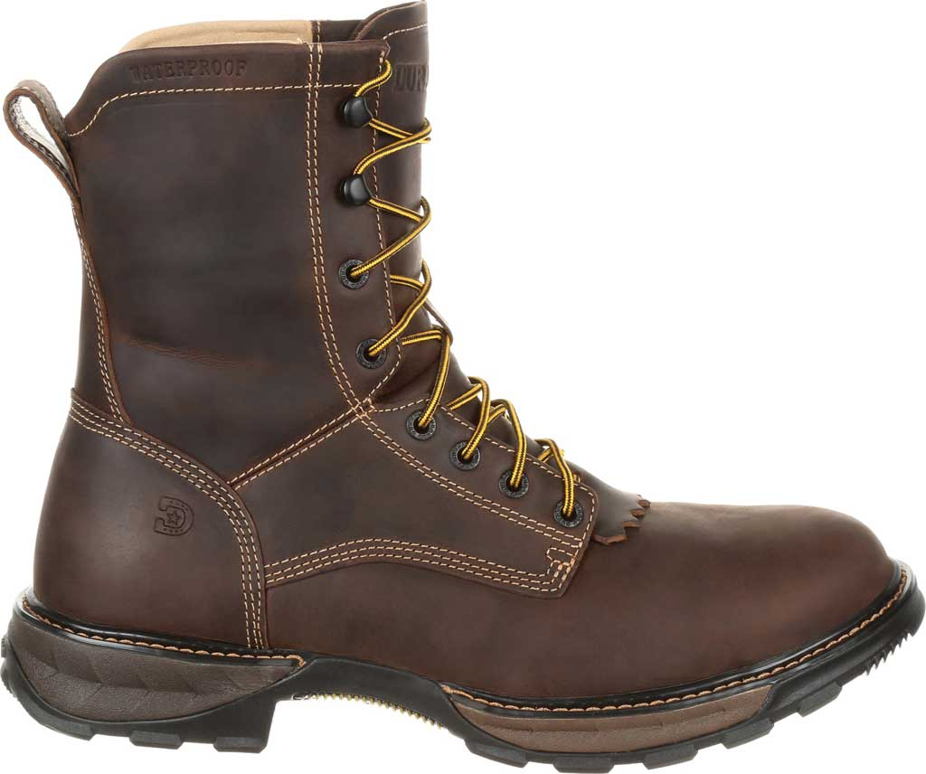 Men's Durango Boot DDB0173 Maverick XP Steel Toe WP Lacer Work Boot, Oiled Brown Full Grain Leather, large, image 2