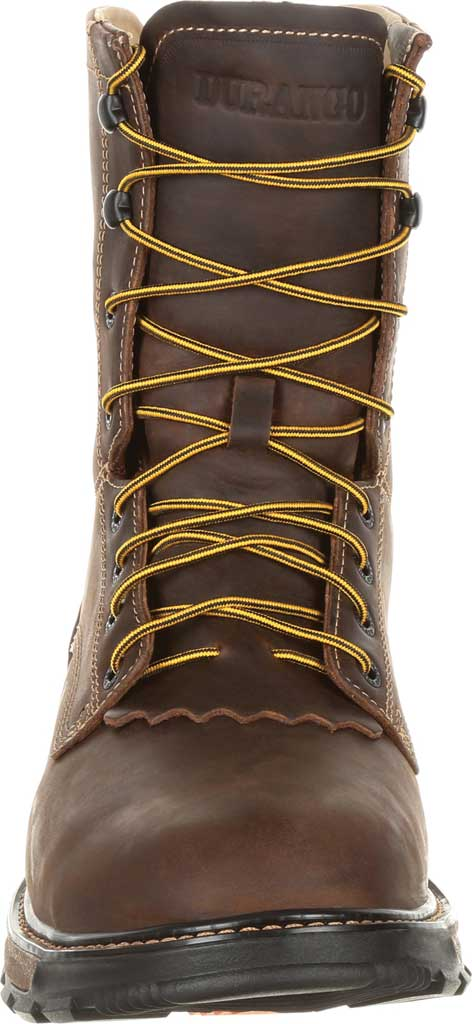 Men's Durango Boot DDB0173 Maverick XP Steel Toe WP Lacer Work Boot, Oiled Brown Full Grain Leather, large, image 4