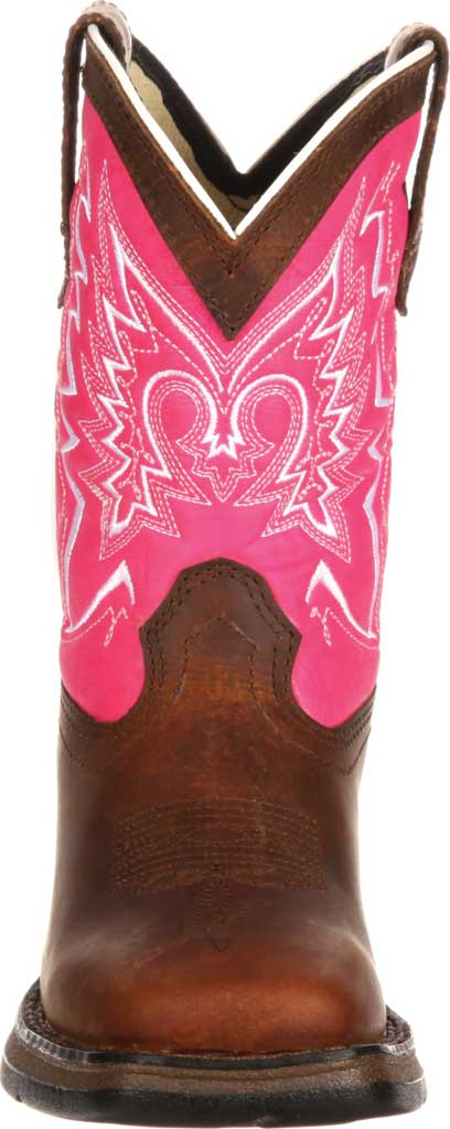 Infant Durango Boot DWBT092 Lil' Durango Let Love Fly Western Boot, Brown/Pink Full Grain Leather, large, image 4