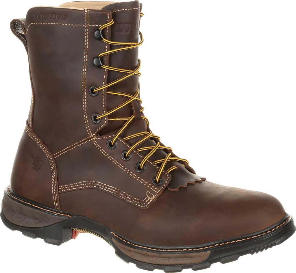 Men's Durango Boot DDB0174 Maverick XP Waterproof Lacer Work Boot, Oiled Brown Full Grain Leather, large, image 1