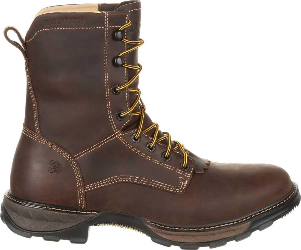 Men's Durango Boot DDB0174 Maverick XP Waterproof Lacer Work Boot, Oiled Brown Full Grain Leather, large, image 2
