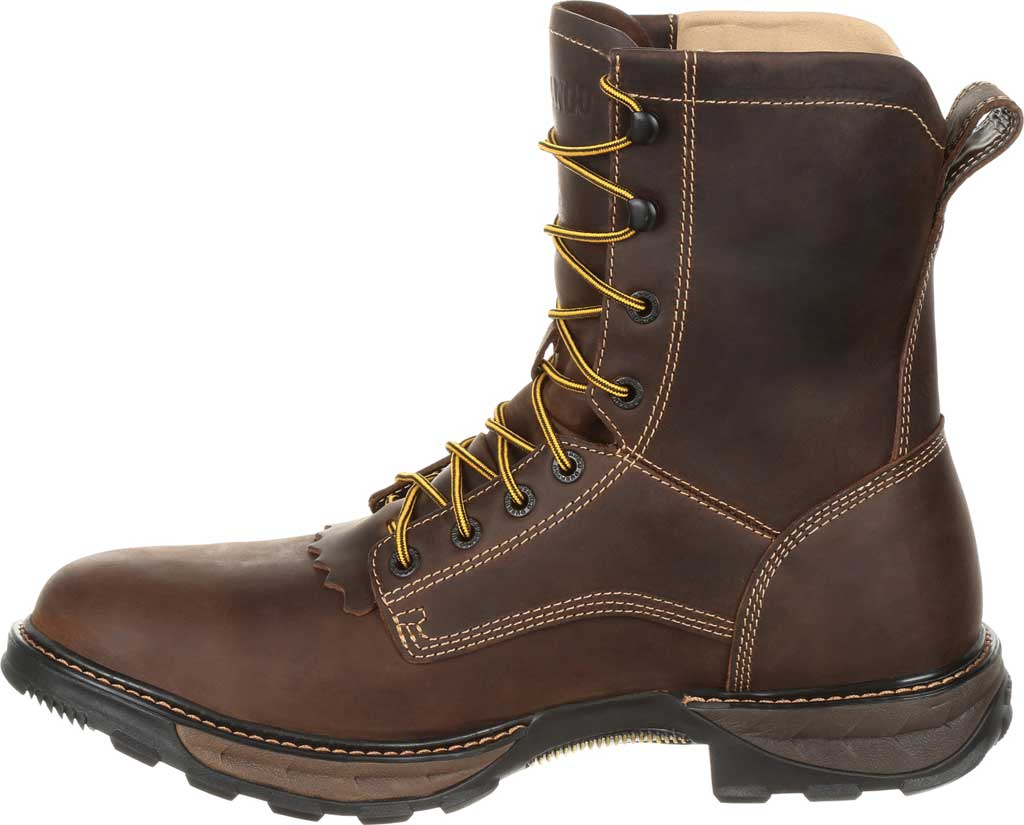 Men's Durango Boot DDB0174 Maverick XP Waterproof Lacer Work Boot, Oiled Brown Full Grain Leather, large, image 3