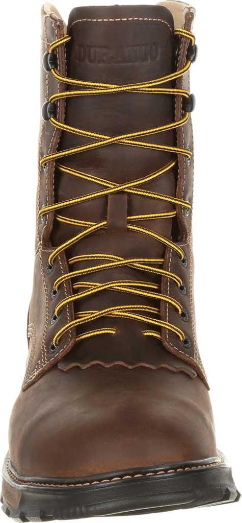 Men's Durango Boot DDB0174 Maverick XP Waterproof Lacer Work Boot, Oiled Brown Full Grain Leather, large, image 4