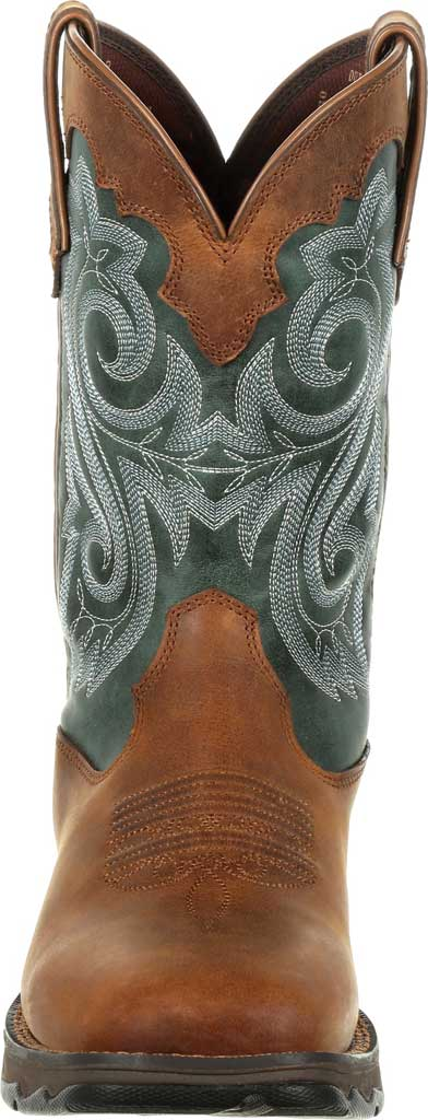 Women's Durango Boot DRD0312 Lady Rebel Western Waterproof Boot, Brown/Evergreen Full Grain Leather/Faux, large, image 4