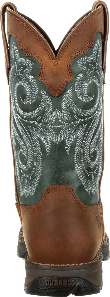 Women's Durango Boot DRD0312 Lady Rebel Western Waterproof Boot, Brown/Evergreen Full Grain Leather/Faux, large, image 5