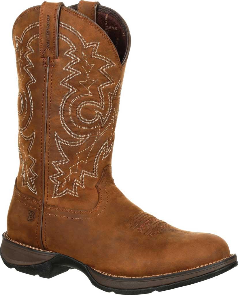 Men's Durango Boot DDB0163 Rebel Western Waterproof Boot, Coyote/Brown Full Grain Leather, large, image 1