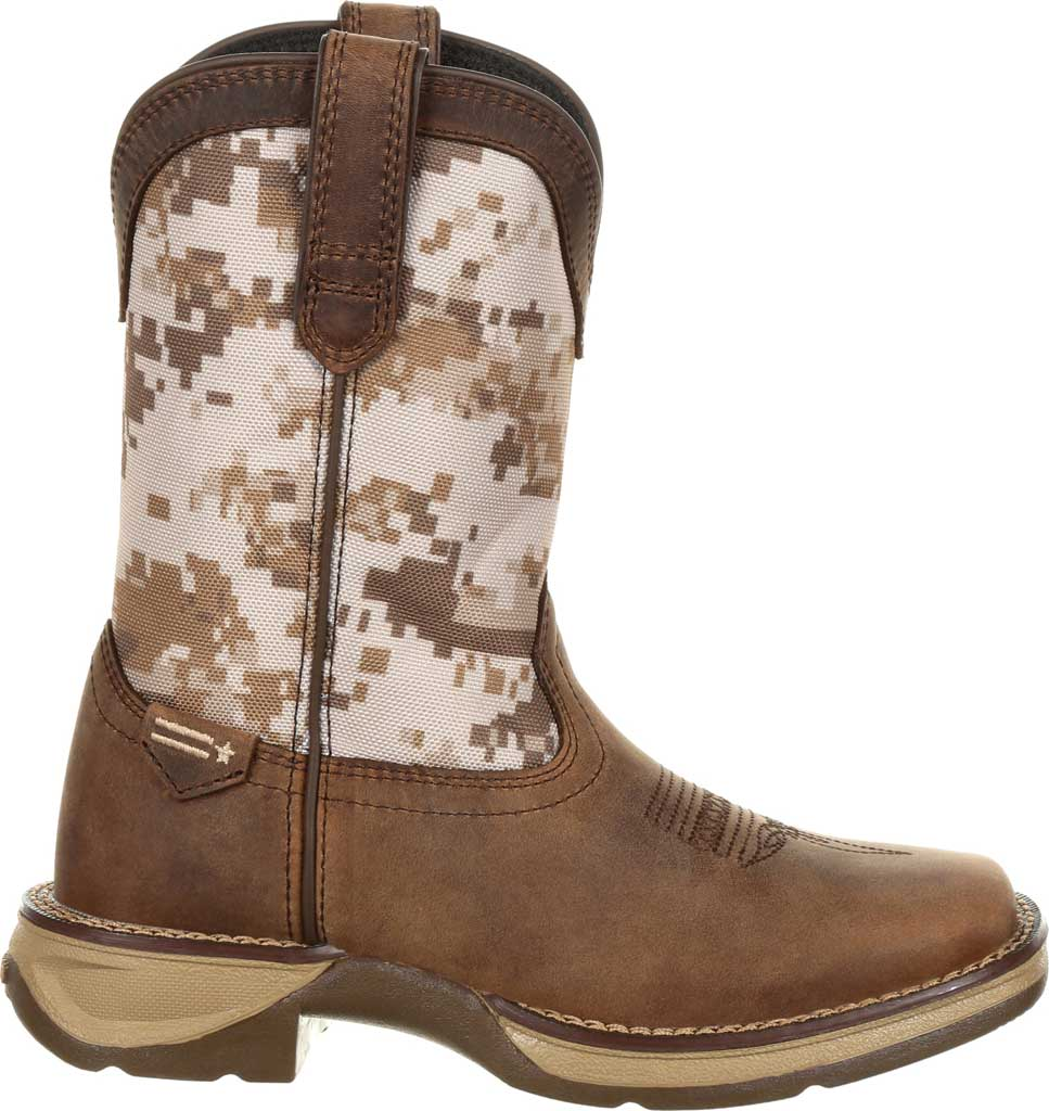 Children's Durango Boot DBT0208C Lil' Rebel Cowboy Boot - Little Kid, Dusty Brown/Desert Camo Full Grain Leather/Nylon, large, image 2