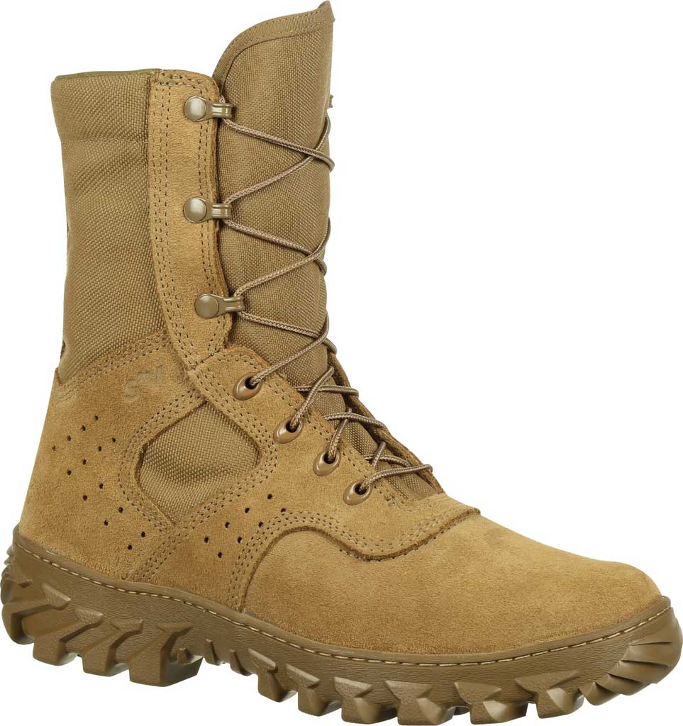 Men's Rocky S2V Enhanced Jungle Military Boot RKC071, Coyote Brown Leather/Cordura, large, image 1