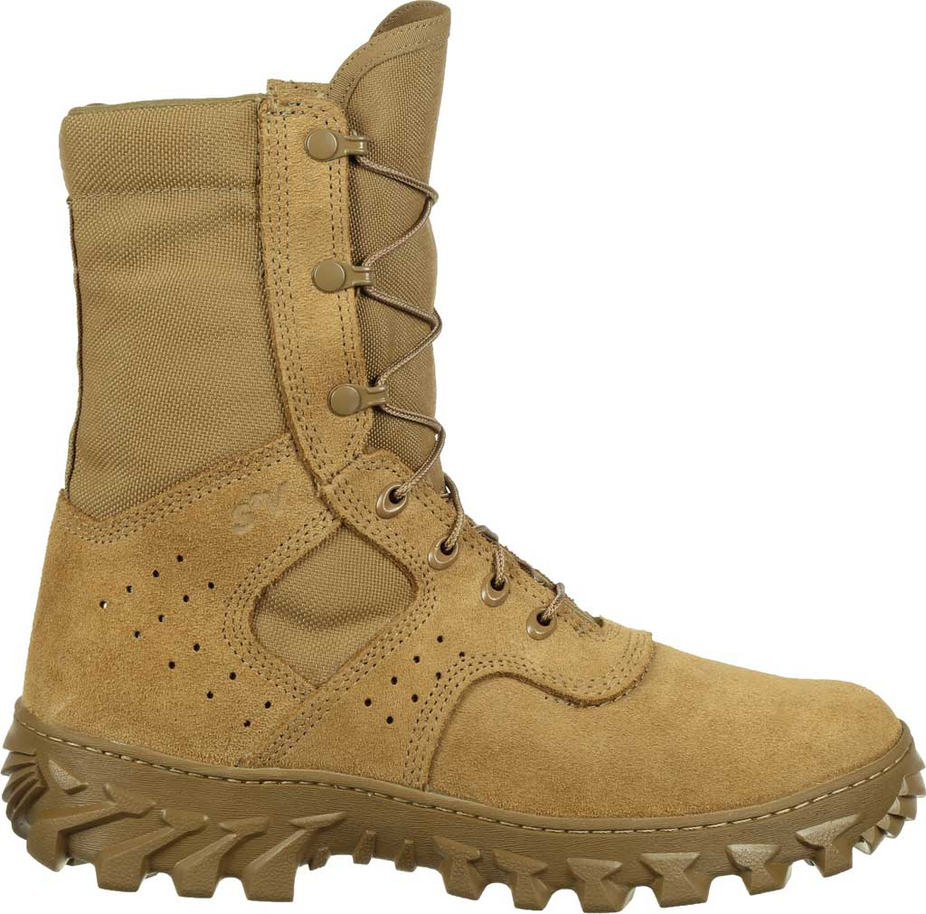 Men's Rocky S2V Enhanced Jungle Military Boot RKC071, Coyote Brown Leather/Cordura, large, image 2