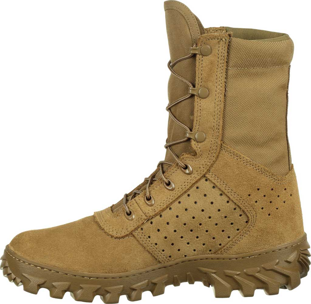 Men's Rocky S2V Enhanced Jungle Military Boot RKC071, Coyote Brown Leather/Cordura, large, image 3