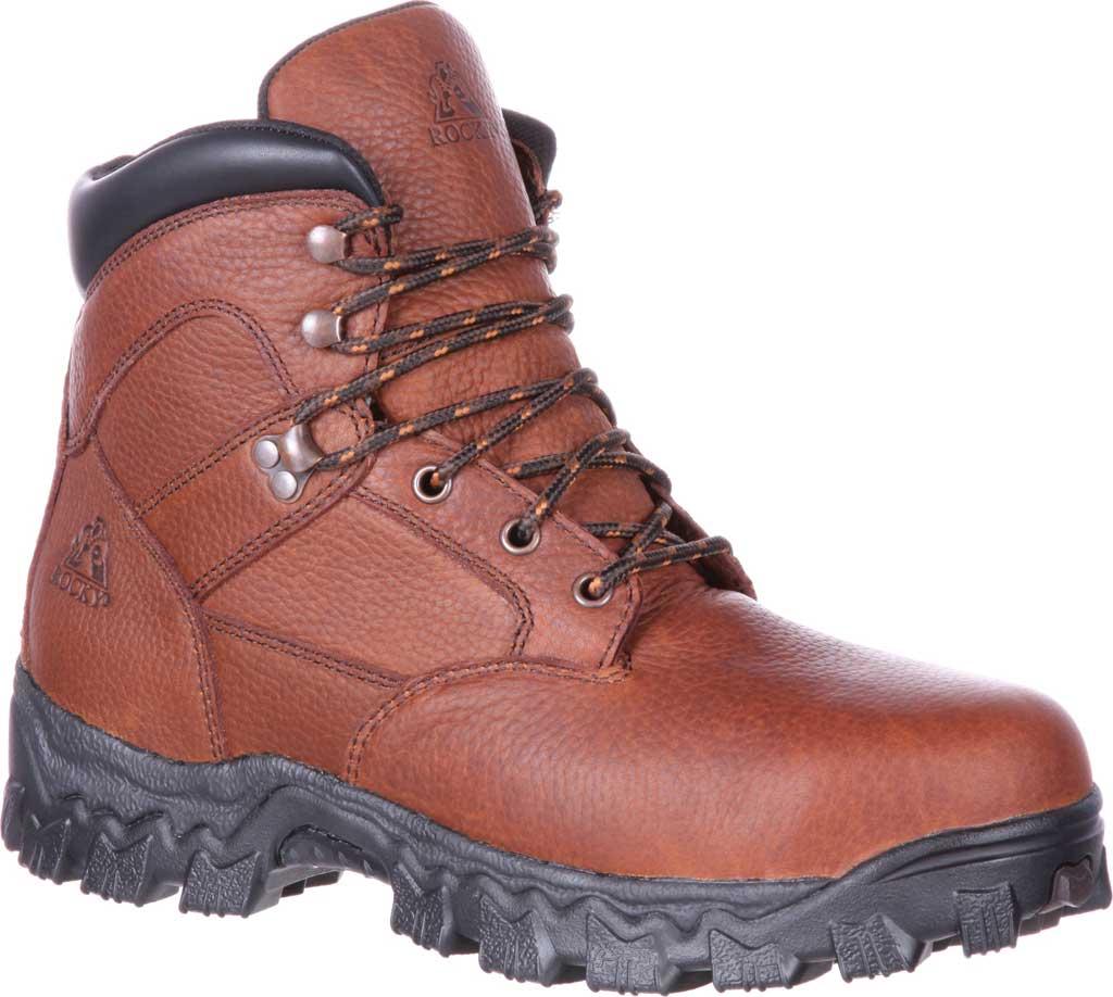Men's Rocky Alpha Force Steel Toe Fully WP Work Boot RKK0190, Brown Full Grain Leather/Nylon, large, image 1