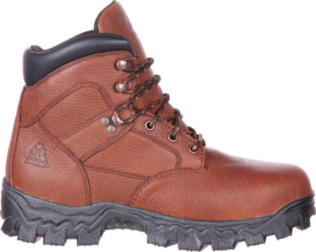 Men's Rocky Alpha Force Steel Toe Fully WP Work Boot RKK0190, Brown Full Grain Leather/Nylon, large, image 2