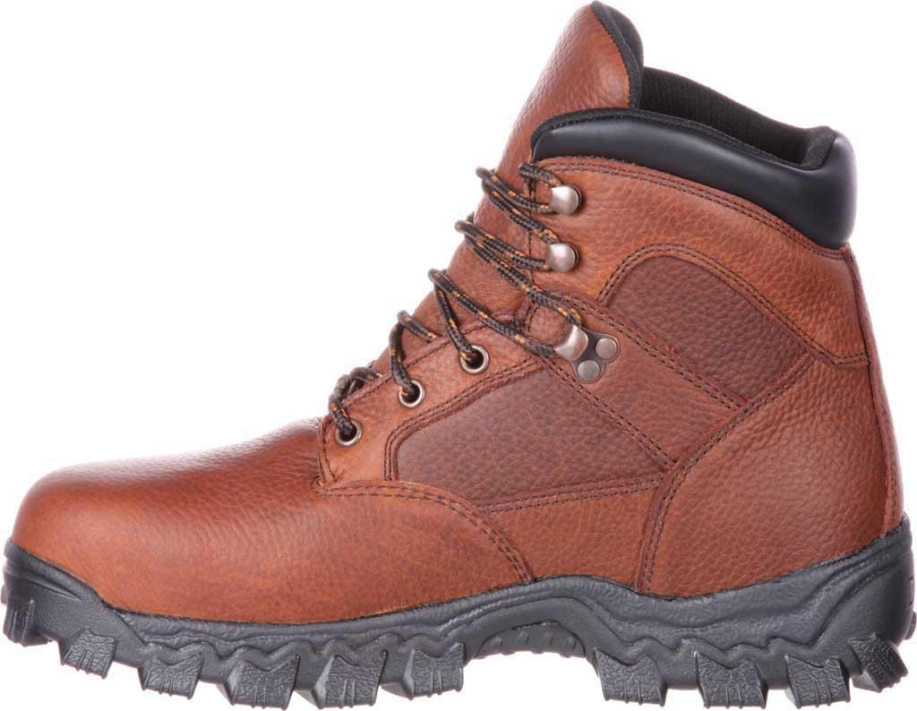 Men's Rocky Alpha Force Steel Toe Fully WP Work Boot RKK0190, Brown Full Grain Leather/Nylon, large, image 3