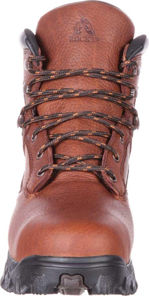 Men's Rocky Alpha Force Steel Toe Fully WP Work Boot RKK0190, Brown Full Grain Leather/Nylon, large, image 4