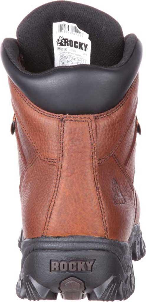 Men's Rocky Alpha Force Steel Toe Fully WP Work Boot RKK0190, Brown Full Grain Leather/Nylon, large, image 5