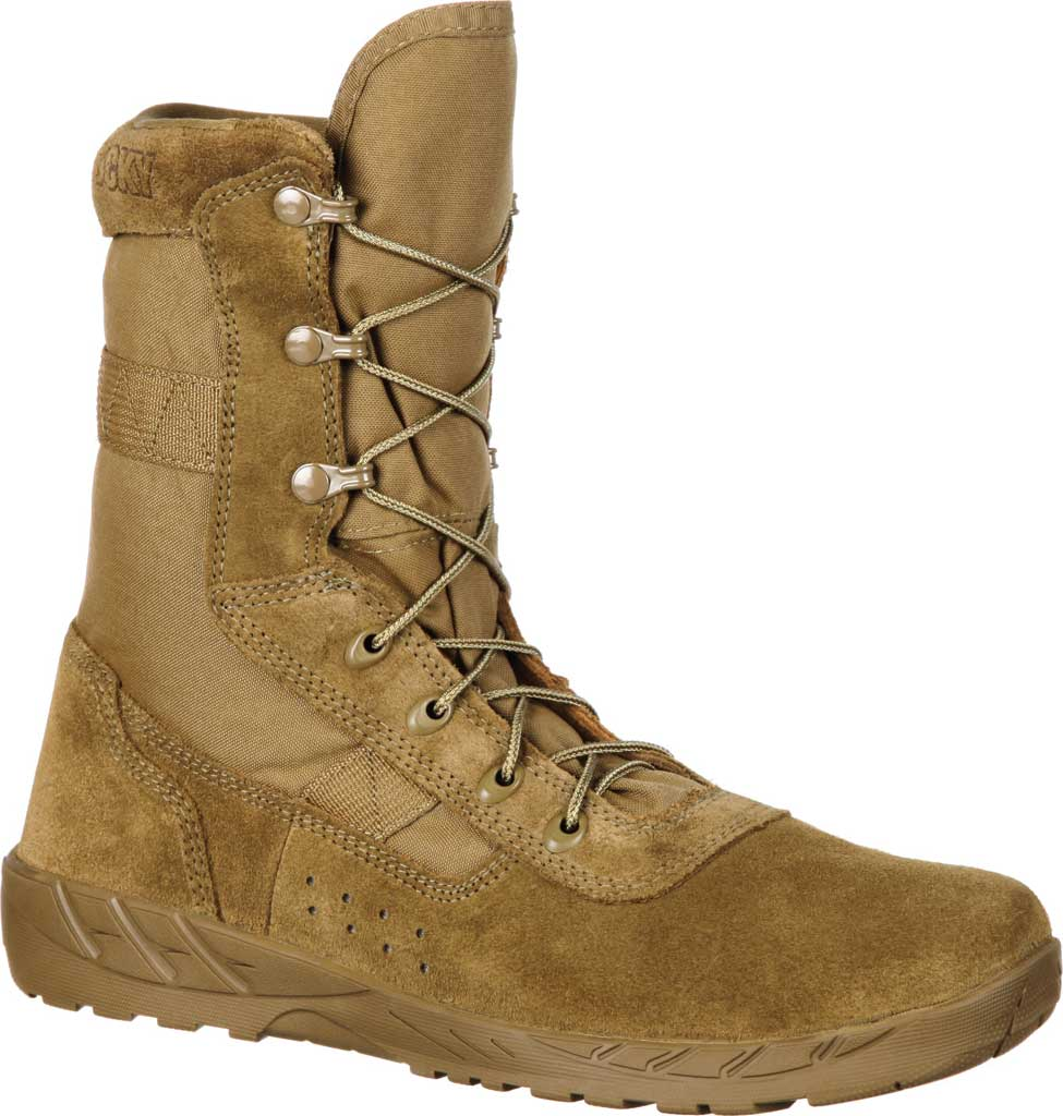 Men's Rocky C7 CXT Lightweight Commercial Military Boot RKC065, Coyote Brown Leather/Synthetic, large, image 1