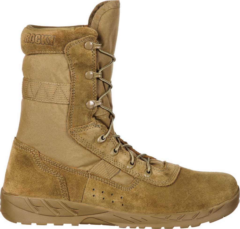 Men's Rocky C7 CXT Lightweight Commercial Military Boot RKC065, Coyote Brown Leather/Synthetic, large, image 2